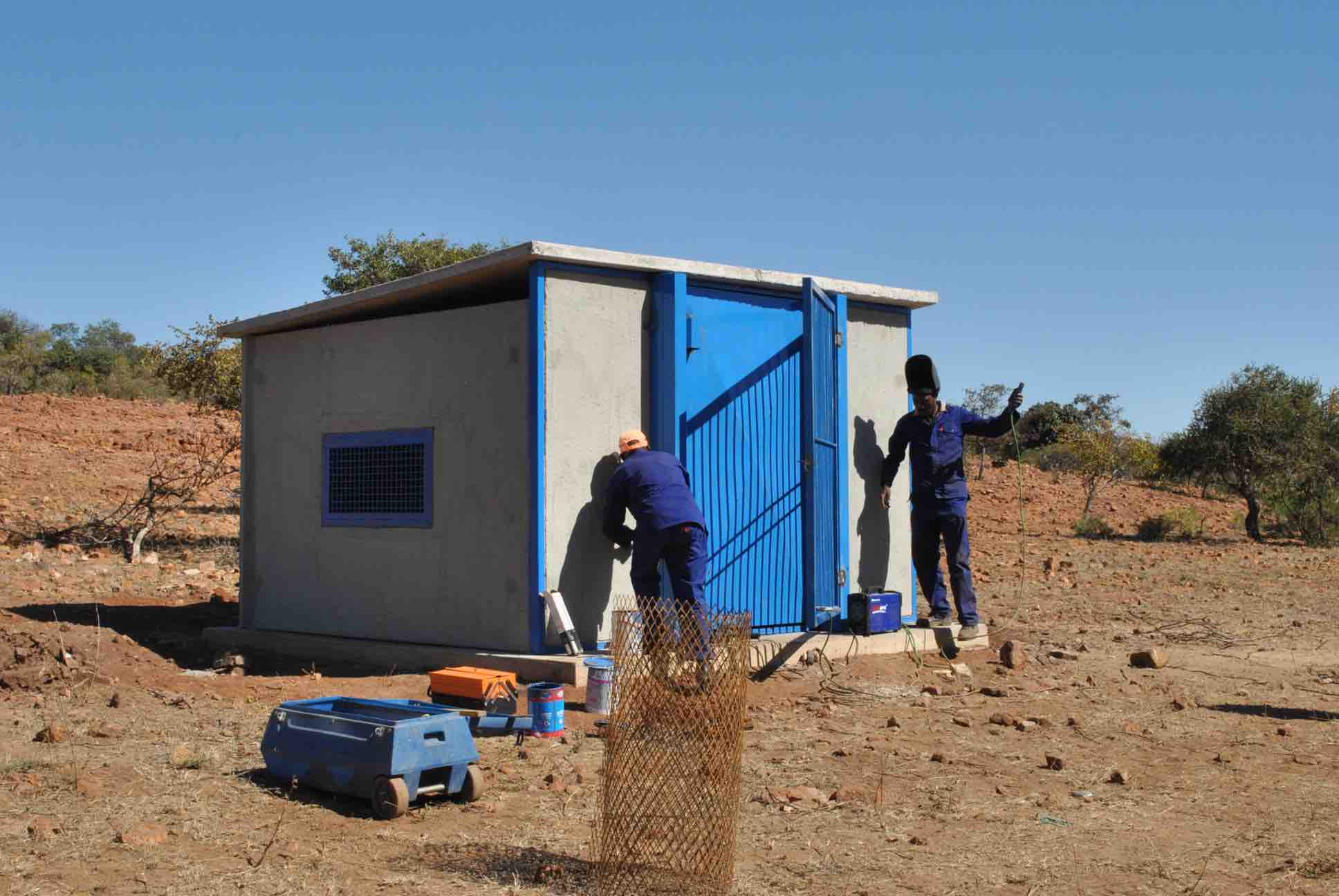 Refurbishment of Boreholes and Pump houses, North West, 2014.